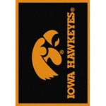 "Milliken College Team Spirit (NCAA) Iowa 74218 Spirit Rectangle (4000019211) 5'4"" x 7'8"" Area Rug"