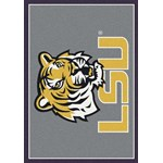 "Milliken College Team Spirit (NCAA) LSU 45280 Spirit Rectangle (4000019292) 7'8"" x 10'9"" Area Rug"