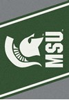Milliken College Team Spirit (NCAA) Michigan State 74198 Spirit Rectangle (4000019437) 2'8