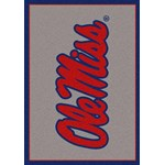 "Milliken College Team Spirit (NCAA) Mississippi 45488 Spirit Rectangle (4000019058) 3'10"" x 5'4"" Area Rug"