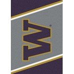 "Milliken College Team Spirit (NCAA) Washington 33391 Spirit Rectangle (4000019394) 2'8"" x 3'10"" Area Rug"