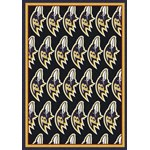 "Milliken NFL Team Repeat (NFL-R) Baltimore Ravens 09008 Repeat Rectangle (4000054746) 5'4"" x 7'8"" Area Rug"