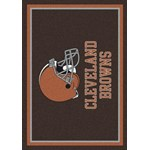 "Milliken NFL Team Spirit (NFL-S) Cleveland Browns 00923 Spirit Rectangle (4000095624) 5'4"" x 7'8"" Area Rug"