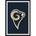 "Milliken NFL Team Spirit (NFL-S) St. Louis Rams 00986 Spirit Rectangle (4000095938) 5'4"" x 7'8"" Area Rug"