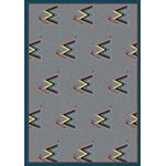 "Milliken MLB Team Repeat (MLB-R) Miami Marlins 01140 Repeat Rectangle (4000019636) 2'1"" x 7'8"" Area Rug"