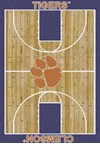 Milliken College Home Court (NCAA) Clemson 01050 Court Rectangle (4000018286) 3'10
