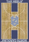 Milliken College Home Court (NCAA) North Carolina 01250 Court Rectangle (4000018489) 7'8
