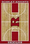 Milliken College Home Court (NCAA) Rutgers 01347 Court Rectangle (4000018498) 7'8