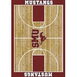 "Milliken College Home Court (NCAA) Southern Methodist 01390 Court Rectangle (4000018505) 7'8"" x 10'9"" Area Rug"