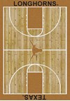 Milliken College Home Court (NCAA) Texas 01410 Court Rectangle (4000018425) 5'4