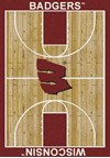 Milliken College Home Court (NCAA) Wisconsin 01490 Court Rectangle (4000018355) 3'10