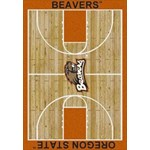 "Milliken College Home Court (NCAA-CRT) Oregon State 01294 Court Rectangle (4000096109) 10'9"" x 13'2"" Area Rug"
