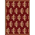 "Milliken College Repeating (NCAA) Iowa State 01111 Repeat Rectangle (4000018912) 7'8"" x 10'9"" Area Rug"