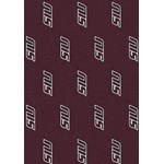 "Milliken College Repeating (NCAA) Southern Illinois 01380 Repeat Rectangle (4000019014) 10'9"" x 13'2"" Area Rug"