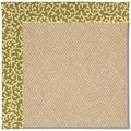 Capel Rugs Creative Concepts Cane Wicker - Coral Cascade Avocado (225) Octagon 4
