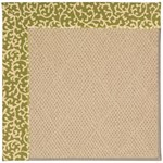 Capel Rugs Creative Concepts Cane Wicker - Coral Cascade Avocado (225) Octagon 4' x 4' Area Rug