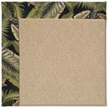Capel Rugs Creative Concepts Cane Wicker - Bahamian Breeze Coal (325) Octagon 4