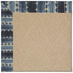 Capel Rugs Creative Concepts Cane Wicker - Java Journey Indigo (460) Octagon 4' x 4' Area Rug