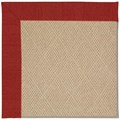 Capel Rugs Creative Concepts Cane Wicker - Canvas Cherry (537) Octagon 4
