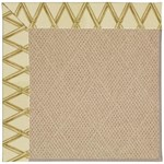 Capel Rugs Creative Concepts Cane Wicker - Bamboo Rattan (706) Octagon 4' x 4' Area Rug