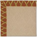 Capel Rugs Creative Concepts Cane Wicker - Bamboo Cinnamon (856) Octagon 4' x 4' Area Rug