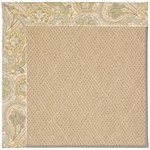 Capel Rugs Creative Concepts Cane Wicker - Paddock Shawl Mineral (310) Octagon 6' x 6' Area Rug