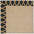 Capel Rugs Creative Concepts Cane Wicker - Bamboo Coal (356) Octagon 6