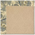 Capel Rugs Creative Concepts Cane Wicker - Cayo Vista Ocean (425) Octagon 6