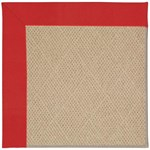 Capel Rugs Creative Concepts Cane Wicker - Canvas Jockey Red (527) Octagon 6' x 6' Area Rug
