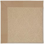 Capel Rugs Creative Concepts Cane Wicker - Canvas Camel (727) Octagon 6' x 6' Area Rug