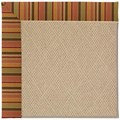 Capel Rugs Creative Concepts Cane Wicker - Tuscan Stripe Adobe (825) Octagon 12