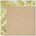 "Capel Rugs Creative Concepts Cane Wicker - Cayo Vista Mojito (215) Runner 2' 6"" x 8' Area Rug"