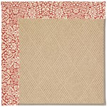"Capel Rugs Creative Concepts Cane Wicker - Imogen Cherry (520) Runner 2' 6"" x 8' Area Rug"