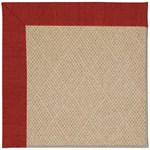 "Capel Rugs Creative Concepts Cane Wicker - Canvas Cherry (537) Runner 2' 6"" x 8' Area Rug"