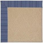"Capel Rugs Creative Concepts Cane Wicker - Vierra Navy (455) Runner 2' 6"" x 12' Area Rug"