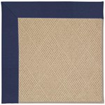 "Capel Rugs Creative Concepts Cane Wicker - Canvas Royal Navy (467) Runner 2' 6"" x 12' Area Rug"