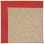 "Capel Rugs Creative Concepts Cane Wicker - Dupione Crimson (575) Runner 2' 6"" x 12' Area Rug"