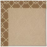 "Capel Rugs Creative Concepts Cane Wicker - Arden Chocolate (746) Runner 2' 6"" x 12' Area Rug"