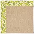 Capel Rugs Creative Concepts Cane Wicker - Shoreham Kiwi (220) Rectangle 7