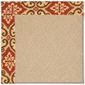 Capel Rugs Creative Concepts Cane Wicker - Shoreham Brick (800) Rectangle 7