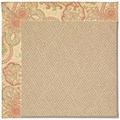 Capel Rugs Creative Concepts Cane Wicker - Paddock Shawl Persimmon (810) Rectangle 7