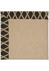 Capel Rugs Creative Concepts Cane Wicker - Bamboo Coal (356) Rectangle 8' x 8' Area Rug