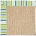 Capel Rugs Creative Concepts Cane Wicker - Capri Stripe Breeze (430) Rectangle 8