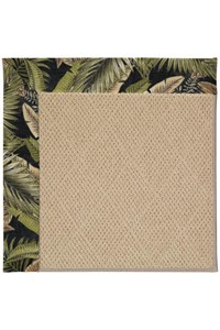 Capel Rugs Creative Concepts Cane Wicker - Bahamian Breeze Coal (325) Rectangle 12' x 15' Area Rug