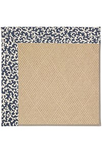 Capel Rugs Creative Concepts Cane Wicker - Coral Cascade Navy (450) Rectangle 12' x 15' Area Rug