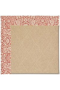 Capel Rugs Creative Concepts Cane Wicker - Imogen Cherry (520) Rectangle 12' x 15' Area Rug