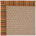 Capel Rugs Creative Concepts Grassy Mountain - Tuscan Stripe Adobe (825) Octagon 12