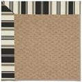 Capel Rugs Creative Concepts Raffia - Down The Lane Ebony (370) Octagon 4