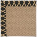 Capel Rugs Creative Concepts Raffia - Bamboo Coal (356) Octagon 6