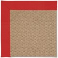 Capel Rugs Creative Concepts Raffia - Canvas Jockey Red (527) Octagon 6